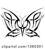 Royalty Free Vector Clip Art Illustration Of A Black And White Butterfly Logo 16