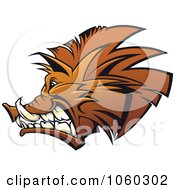 Royalty Free Vector Clip Art Illustration Of A Razorback Boar Logo 7 by Seamartini Graphics