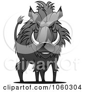 Royalty Free Vector Clip Art Illustration Of A Razorback Boar Logo 10 by Seamartini Graphics