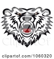 Royalty Free Vector Clip Art Illustration Of A Mad Bear Logo 1 by Vector Tradition SM