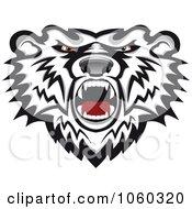 Royalty Free Vector Clip Art Illustration Of A Mad Bear Logo 1
