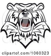 Royalty Free Vector Clip Art Illustration Of A Mad Bear Logo 2