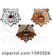 Digital Collage Of Bear Logos 4