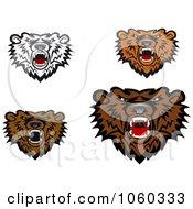 Digital Collage Of Bear Logos 3