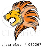 Royalty Free Vector Clip Art Illustration Of A Lion Logo by Seamartini Graphics