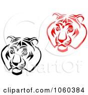 Royalty Free Vector Clip Art Illustration Of A Digital Collage Of Tiger Head Logos