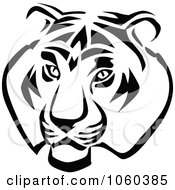 Royalty Free Vector Clip Art Illustration Of A Tiger Head Logo 1 by Vector Tradition SM