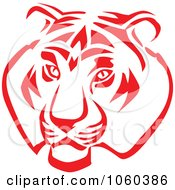 Royalty Free Vector Clip Art Illustration Of A Tiger Head Logo 2 by Vector Tradition SM