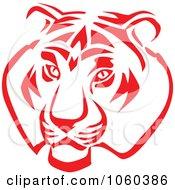 Royalty Free Vector Clip Art Illustration Of A Tiger Head Logo 2