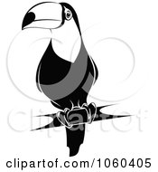 Royalty Free Vector Clip Art Illustration Of A Black And White Toucan Logo 1 by Seamartini Graphics