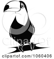 Royalty Free Vector Clip Art Illustration Of A Black And White Toucan Logo 2 by Seamartini Graphics