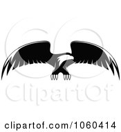 Royalty Free Vector Clip Art Illustration Of A Black And White Flying Eagle Logo 8