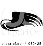 Royalty Free Vector Clip Art Illustration Of A Black And White Flying Eagle Logo 10
