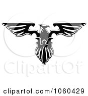 Royalty Free Vector Clip Art Illustration Of A Black And White Heraldic Eagle Logo 3