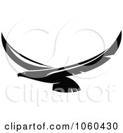 Royalty Free Vector Clip Art Illustration Of A Black And White Flying Eagle Logo 7