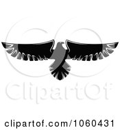 Royalty Free Vector Clip Art Illustration Of A Black And White Flying Eagle Logo 6
