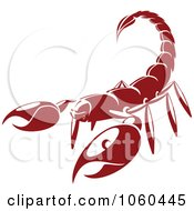 Royalty Free Vector Clip Art Illustration Of A Red Scorpion Logo by Vector Tradition SM