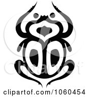 Royalty Free Vector Clip Art Illustration Of A Black And White Scarab Beetle Logo 3 by Vector Tradition SM