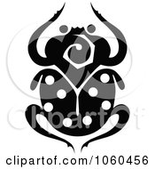 Royalty Free Vector Clip Art Illustration Of A Black And White Scarab Beetle Logo 1 by Vector Tradition SM