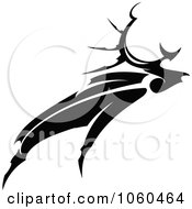 Royalty Free Vector Clip Art Illustration Of A Black And White Moose Logo 2 by Vector Tradition SM