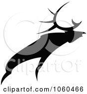 Royalty Free Vector Clip Art Illustration Of A Black And White Moose Logo 3 by Vector Tradition SM