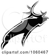 Royalty Free Vector Clip Art Illustration Of A Black And White Moose Logo 1 by Vector Tradition SM