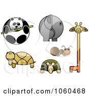 Royalty Free Vector Clip Art Illustration Of A Digital Collage Of Zoo Animals by Vector Tradition SM