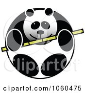 Royalty Free Vector Clip Art Illustration Of A Panda Logo by Vector Tradition SM