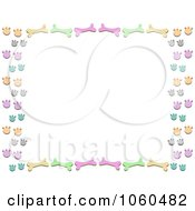 Royalty Free Vector Clip Art Illustration Of A Dog Bone And Paw Print Frame by bpearth