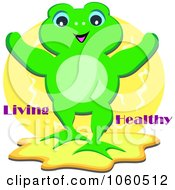 Frog With Living Healthy Text