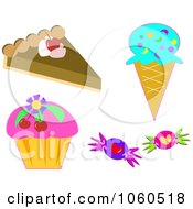 Royalty Free Vector Clip Art Illustration Of A Digital Collage Of Sweets by bpearth