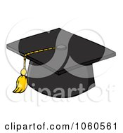 Royalty Free Vector Clip Art Illustration Of A Black Graduation Cap And Tassel