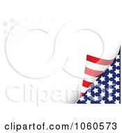 Royalty Free Vector Clip Art Illustration Of A Turning Page With Stars And Stripes Background