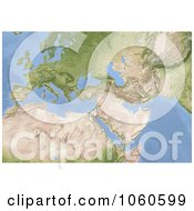 Royalty Free CGI Clip Art Illustration Of A 3d Shaded Relief Map Of Europe North Africa And Near East