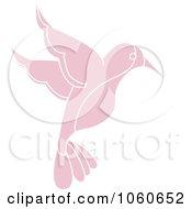 Royalty Free Vector Clip Art Illustration Of A Pink Hummingbird