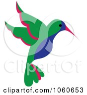 Blue Green And Red Hummingbird 2