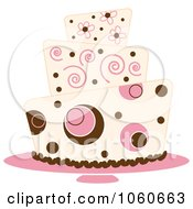 Royalty Free Vector Clip Art Illustration Of A Funky Three Tiered Cake 4 by Pams Clipart