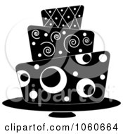 Royalty Free Vector Clip Art Illustration Of A Funky Three Tiered Cake 5