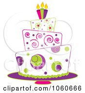 Royalty Free Vector Clip Art Illustration Of A Funky Three Tiered Cake 2 by Pams Clipart #COLLC1060666-0007