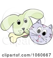 Cat And A Dog With A Bone - 2