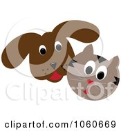 Brown Dog And Cat