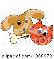 Cat And A Dog With A Bone - 1