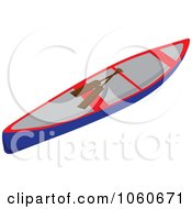 Royalty Free Vector Clip Art Illustration Of A Canoe And Paddles