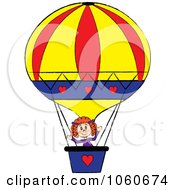 Stick Girl In A Hot Air Balloon