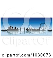 Royalty Free Vector Clip Art Illustration Of A London Skyline Banner 1 by cidepix