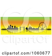 Royalty Free Vector Clip Art Illustration Of A London Skyline Banner 2 by cidepix