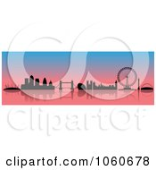 Royalty Free Vector Clip Art Illustration Of A London Skyline Banner 3 by cidepix