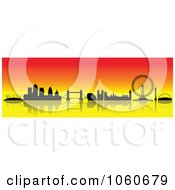 Royalty Free Vector Clip Art Illustration Of A London Skyline Banner 4 by cidepix