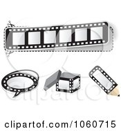 Royalty Free Vector Clip Art Illustration Of A Digital Collage Of Film Strip Design Elements by Andrei Marincas