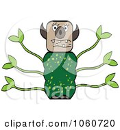 Royalty Free Vector Clip Art Illustration Of A Leafy Monster by Andrei Marincas
